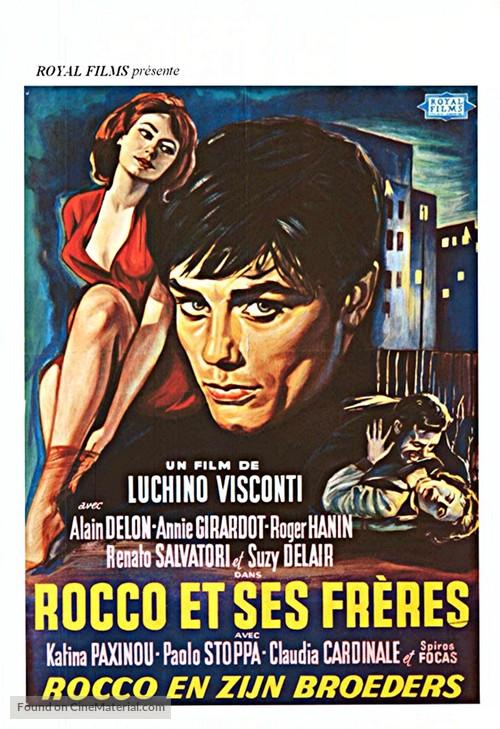 Rocco e i suoi fratelli - Belgian Movie Poster