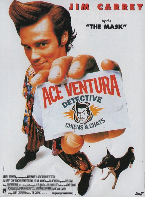 Ace Ventura: Pet Detective - French Movie Poster