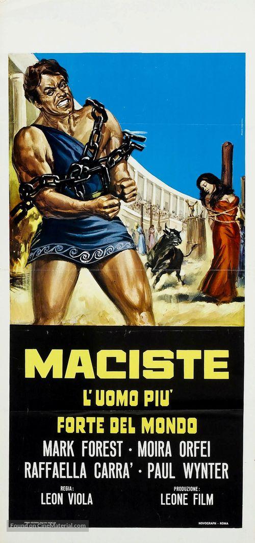 Maciste, l'uomo più forte del mondo - Italian Theatrical poster