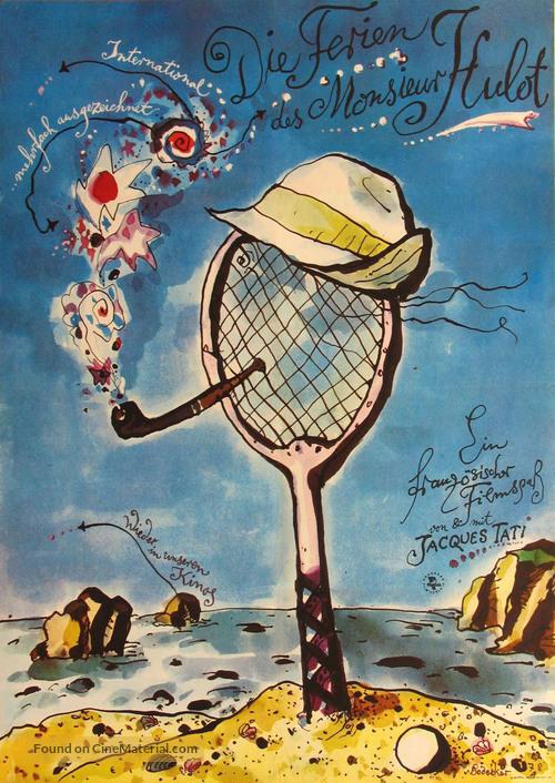 Les vacances de Monsieur Hulot - German Movie Poster