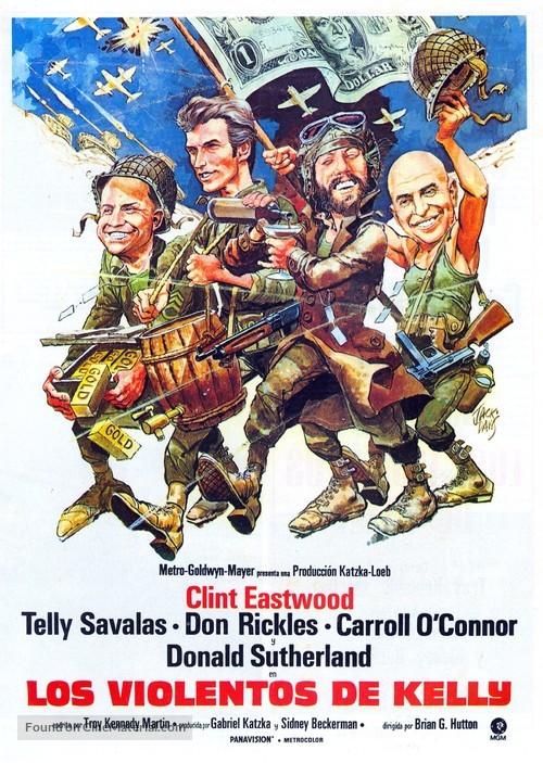 Kelly's Heroes - Spanish Movie Poster