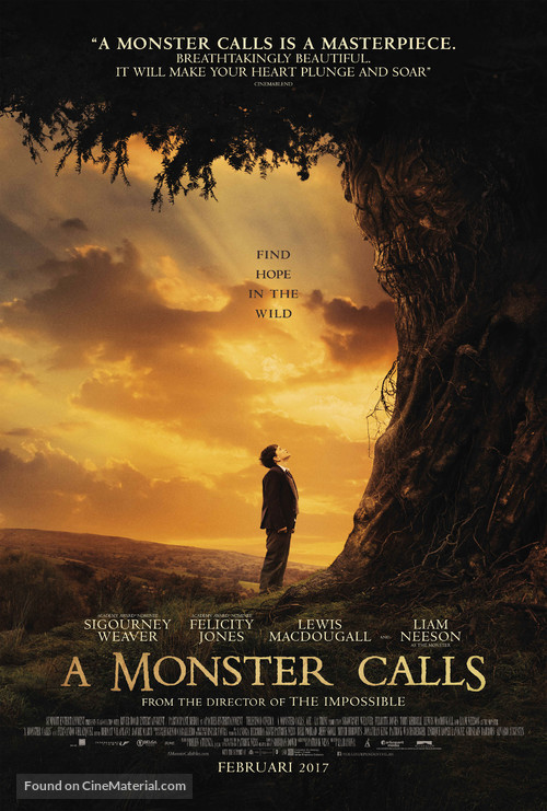 A Monster Calls - Dutch Movie Poster