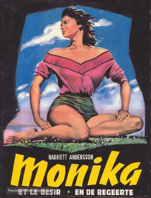 Sommaren med Monika - Belgian Movie Poster
