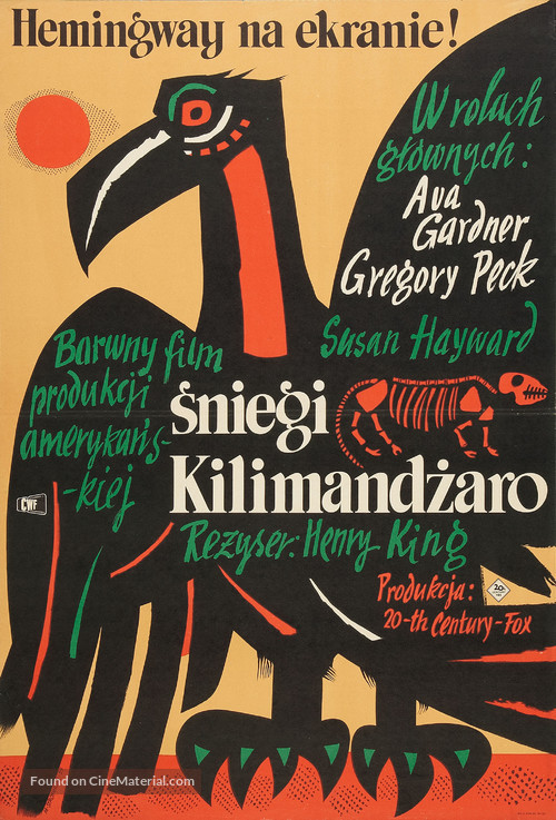 The Snows of Kilimanjaro - Polish Movie Poster