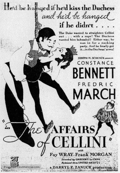 The Affairs of Cellini - Movie Poster