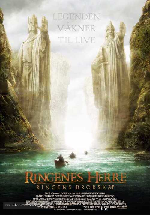 The Lord of the Rings: The Fellowship of the Ring - Norwegian Movie Poster