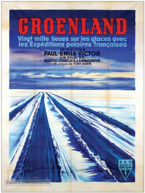 Groenland, vingt mille lieues sur les glaces - French Movie Poster