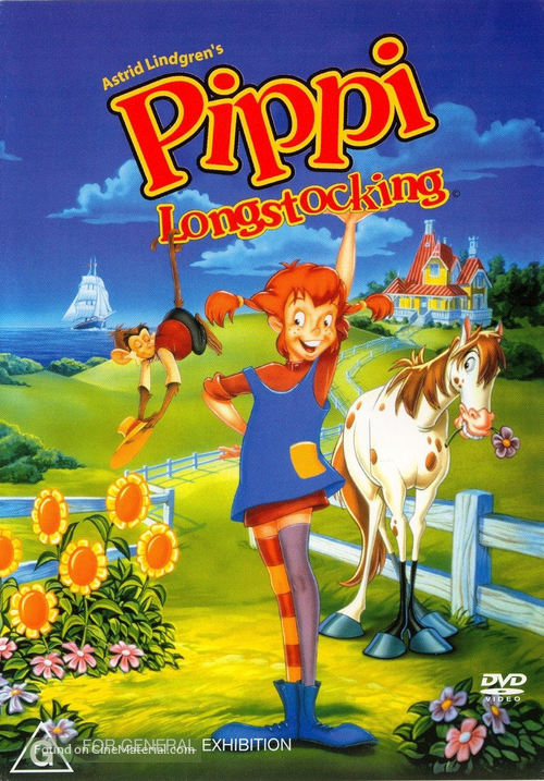 Pippi Longstocking - Australian DVD cover
