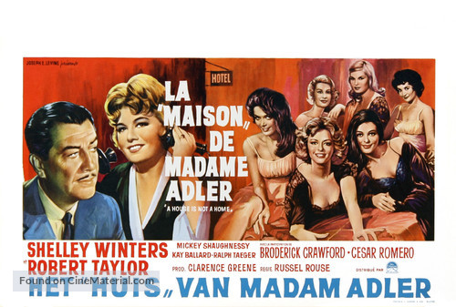 A House Is Not a Home - Belgian Movie Poster