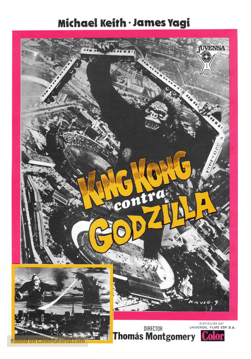 King Kong Vs Godzilla - Spanish Movie Poster