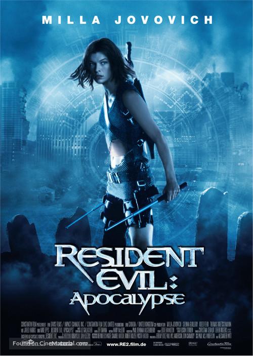 Resident Evil: Apocalypse - German Movie Poster