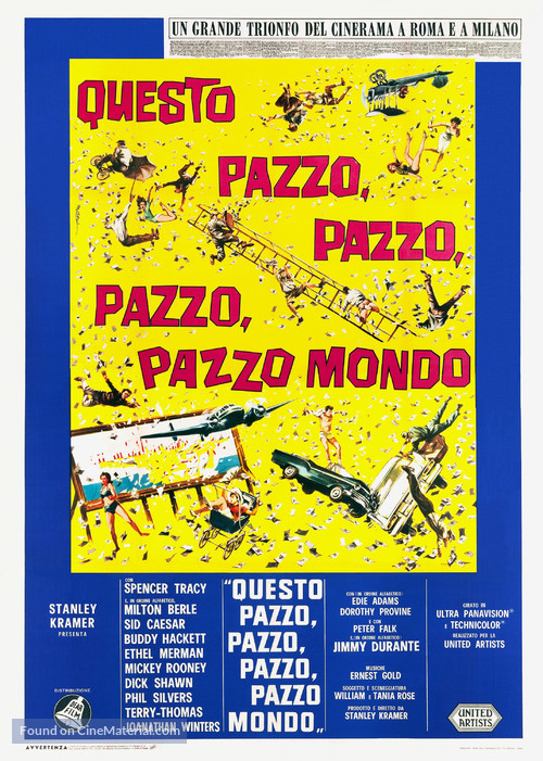 It's a Mad Mad Mad Mad World - Italian Movie Poster
