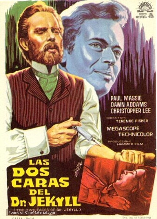 The Two Faces of Dr. Jekyll - Spanish Movie Poster