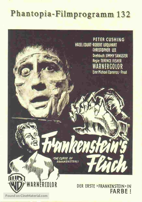 The Curse of Frankenstein - German poster