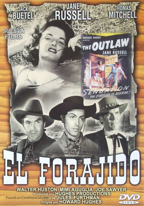 The Outlaw - Spanish DVD movie cover