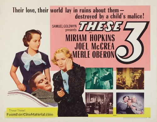 These Three - Re-release movie poster