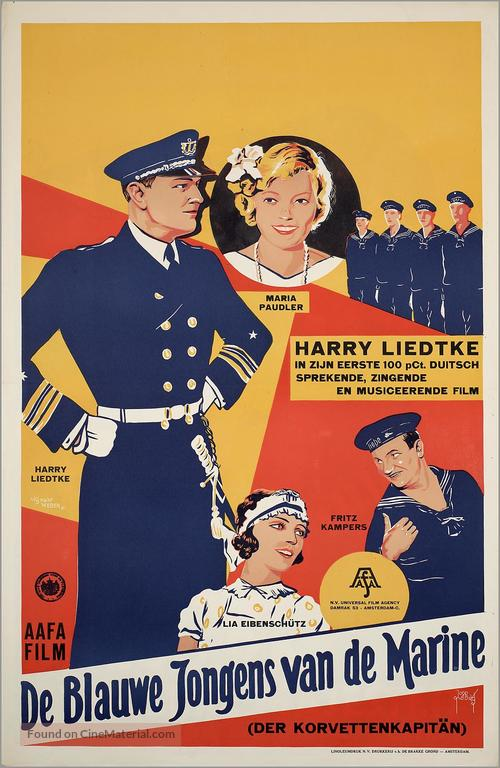 Der Korvettenkapitän - Dutch Movie Poster