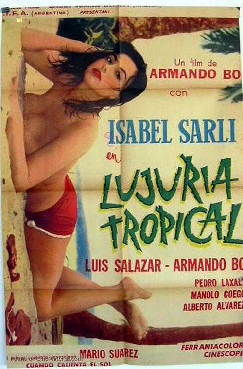Lujuria tropical - Italian Movie Poster