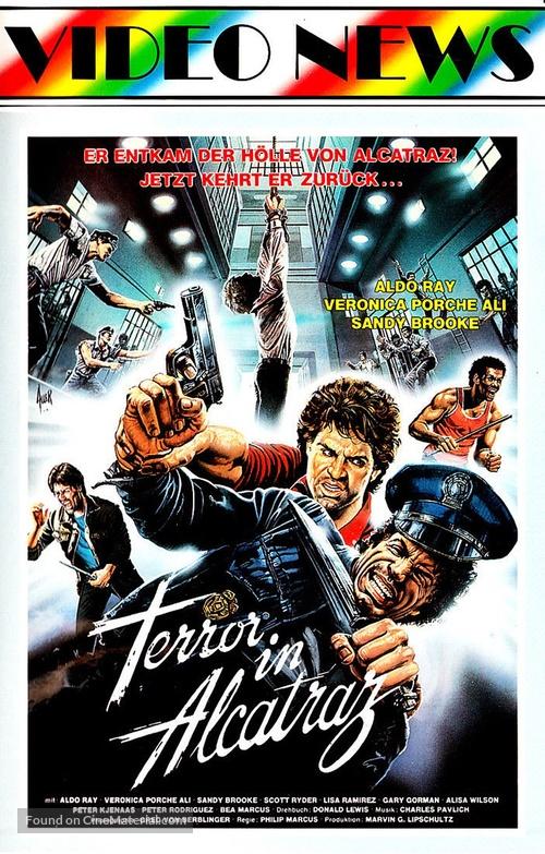 Terror on Alcatraz - German VHS movie cover