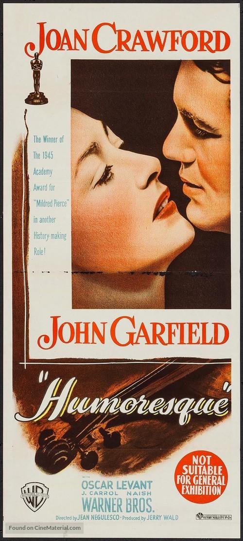 Humoresque - Australian Movie Poster