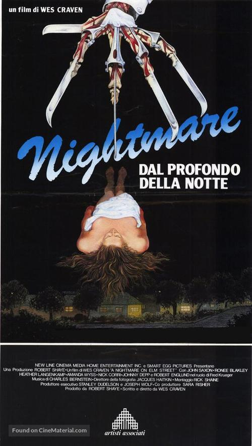 A Nightmare On Elm Street - Italian Movie Poster