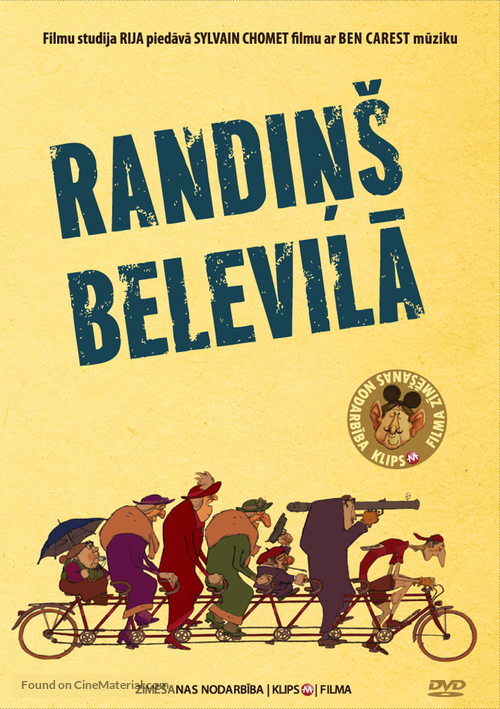 Les triplettes de Belleville - Latvian DVD movie cover