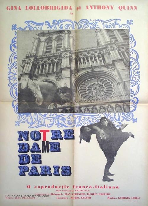 Notre-Dame de Paris - Romanian Movie Poster
