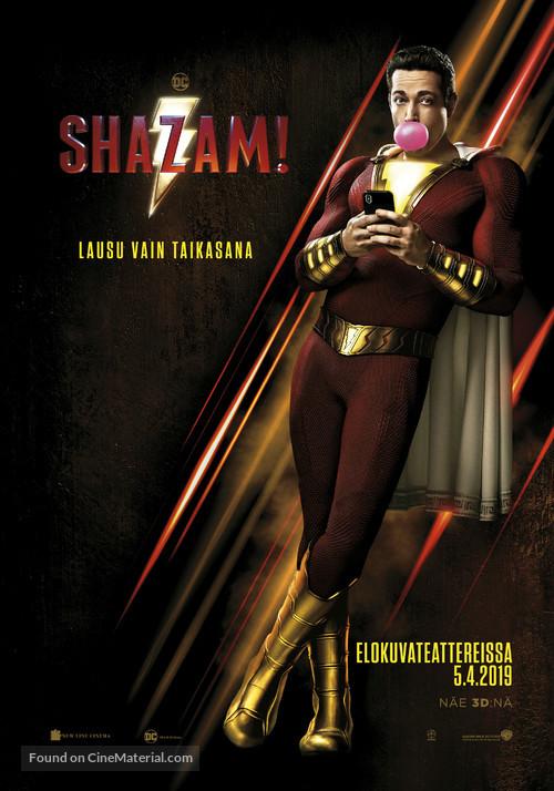 Shazam! - Finnish Movie Poster