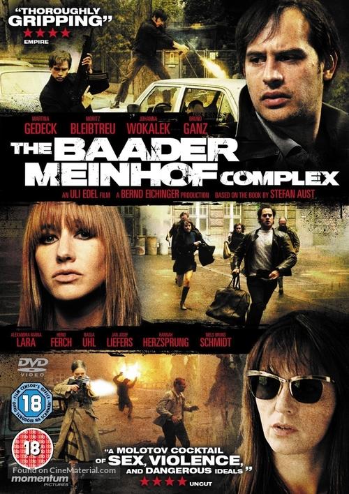 Der Baader Meinhof Komplex - British DVD movie cover