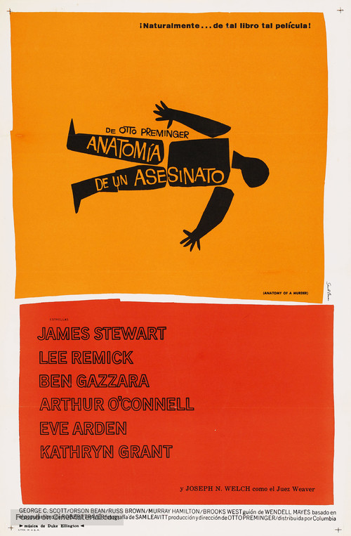 Anatomy of a Murder - Spanish Movie Poster