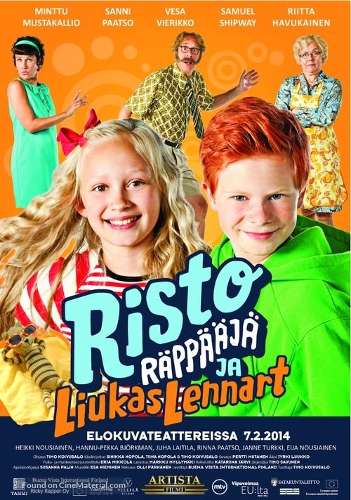 Risto Räppääjä ja liukas Lennart - Finnish Movie Poster