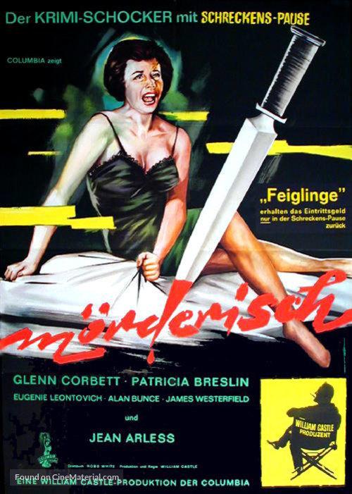 Homicidal - German Movie Poster