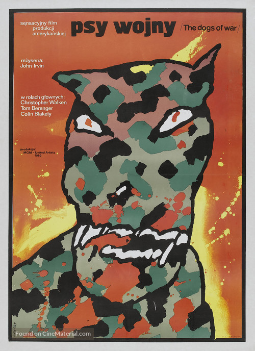 The Dogs of War - Polish Movie Poster