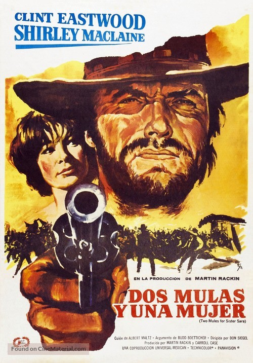 Two Mules for Sister Sara - Spanish Movie Poster