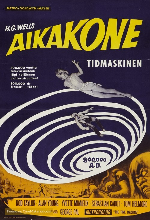 The Time Machine - Finnish Movie Poster