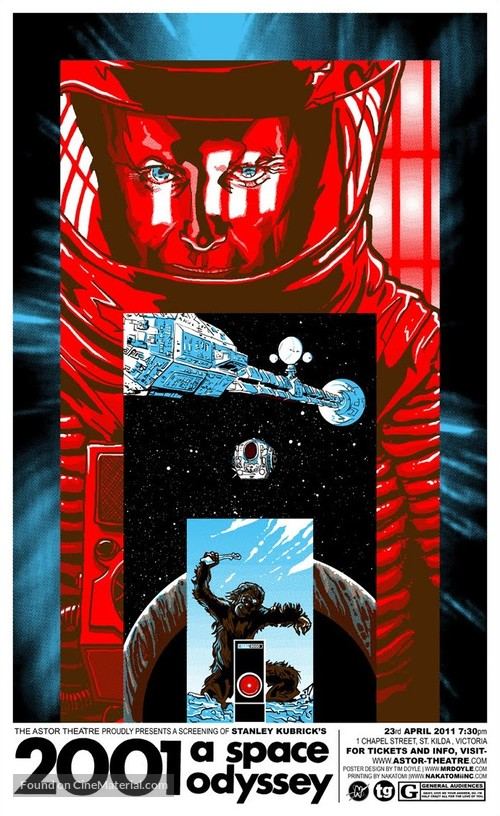 2001: A Space Odyssey - Australian Homage poster