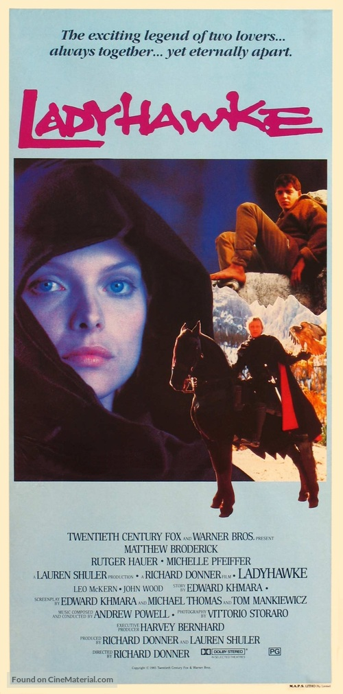 Ladyhawke - Australian Movie Poster