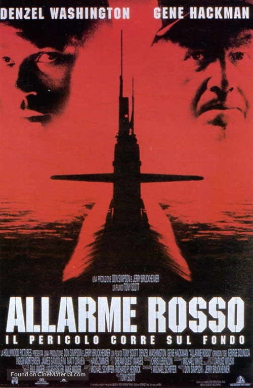 Crimson Tide - Italian Movie Poster