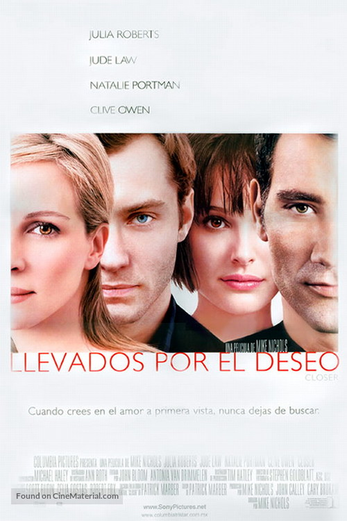 Closer - Mexican Movie Poster