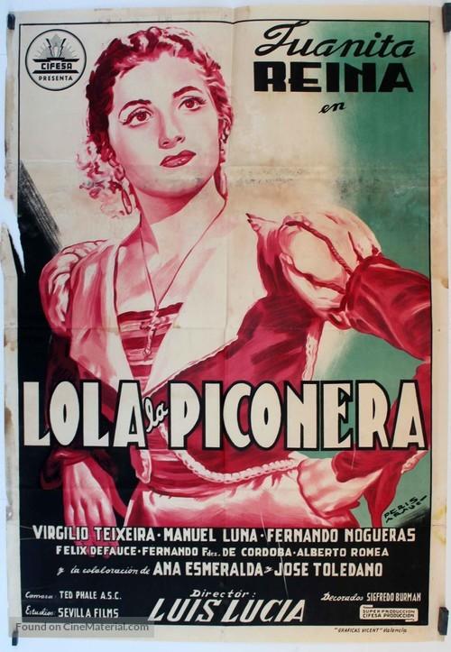 Lola, la piconera - Spanish Movie Poster