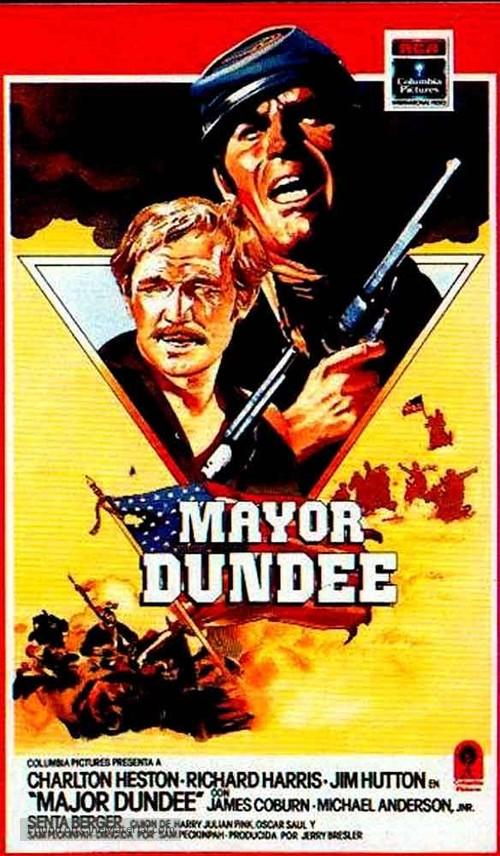 Major Dundee - Spanish Movie Cover