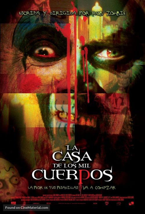 House of 1000 Corpses - Mexican Movie Poster