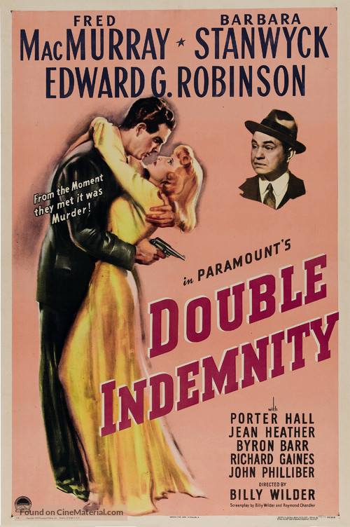 Double Indemnity - Theatrical poster