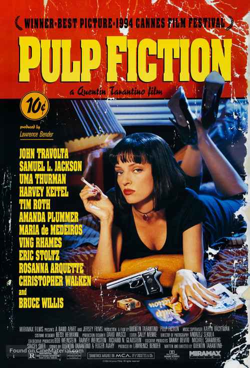 Pulp Fiction - Theatrical movie poster