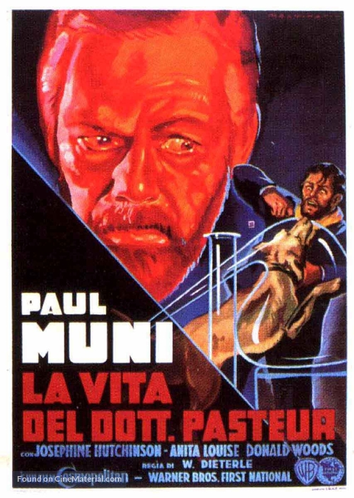 The Story of Louis Pasteur - Italian Movie Poster
