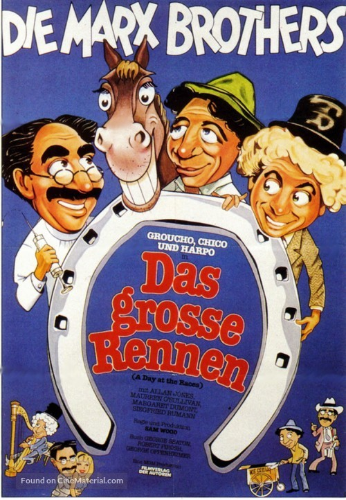 A Day at the Races - German Movie Poster