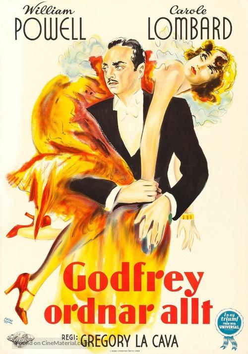 My Man Godfrey - Swedish Movie Poster