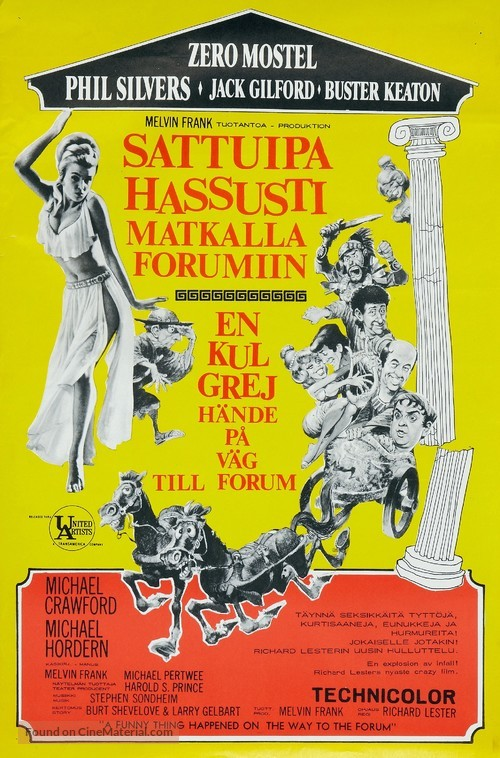 A Funny Thing Happened on the Way to the Forum - Finnish Movie Poster