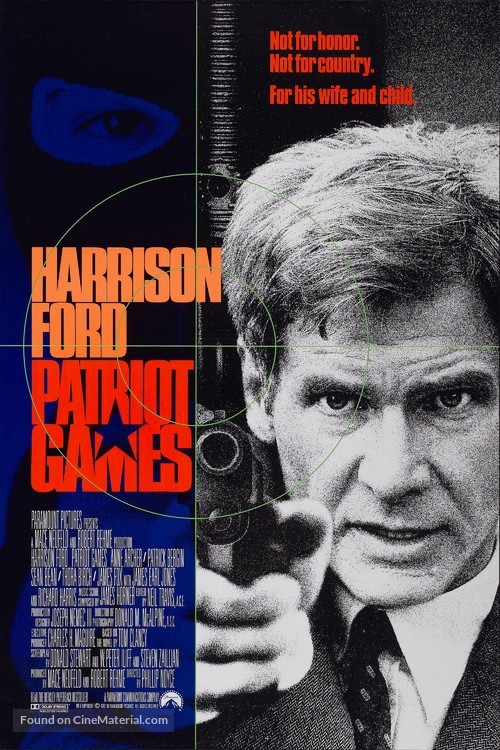 Patriot Games - Movie Poster