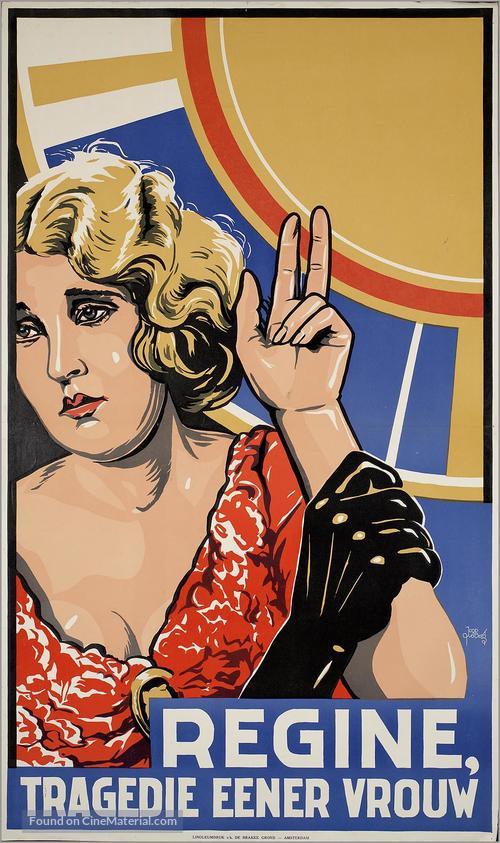 Regine, die Tragödie einer Frau - Dutch Movie Poster